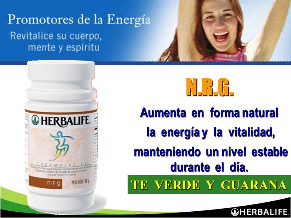 N.R.G. Aumenta en forma natural la energía y la vitalidad,