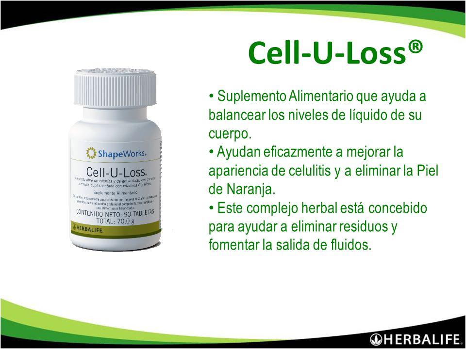Cell-U-Loss® Suplemento Alimentario que ayuda a balancear los niveles de líquido de su cuerpo.