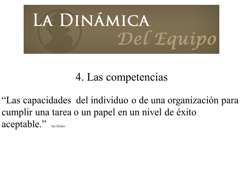 4. Las competencias