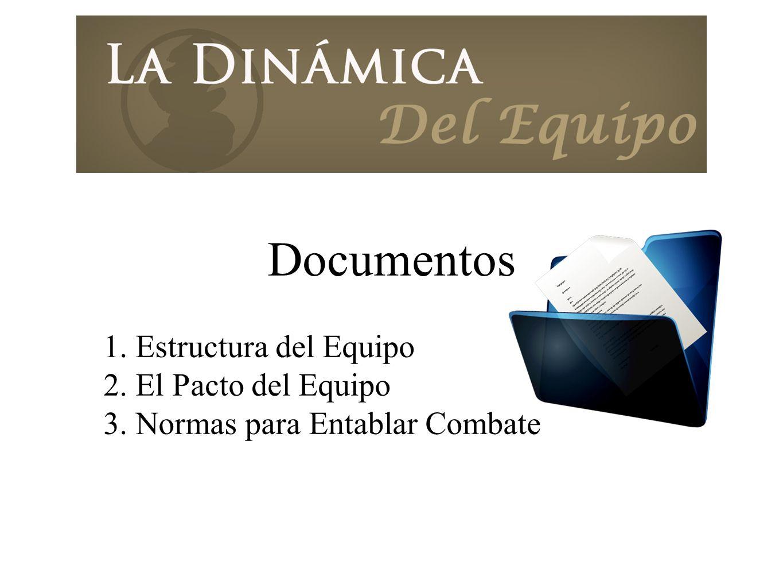 Documentos 1. Estructura del Equipo 2. El Pacto del Equipo