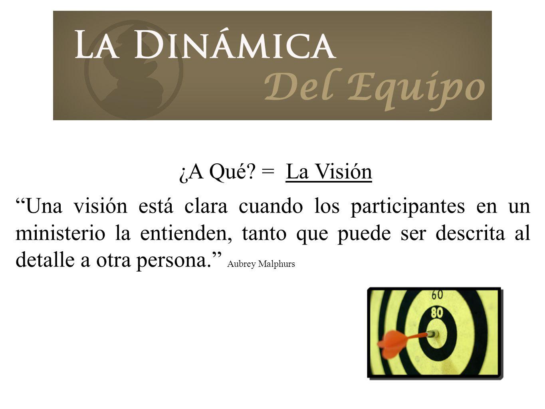 ¿A Qué = La Visión