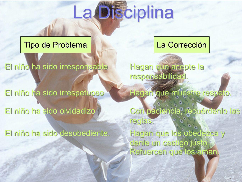 La Disciplina Tipo de Problema La Corrección