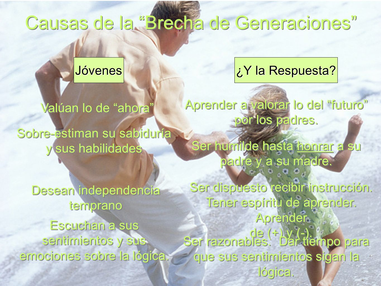 Causas de la Brecha de Generaciones