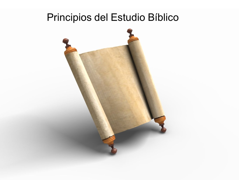 Principios del Estudio Bíblico