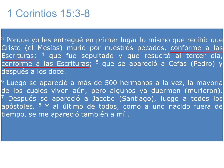 1 Corintios 15:3-8