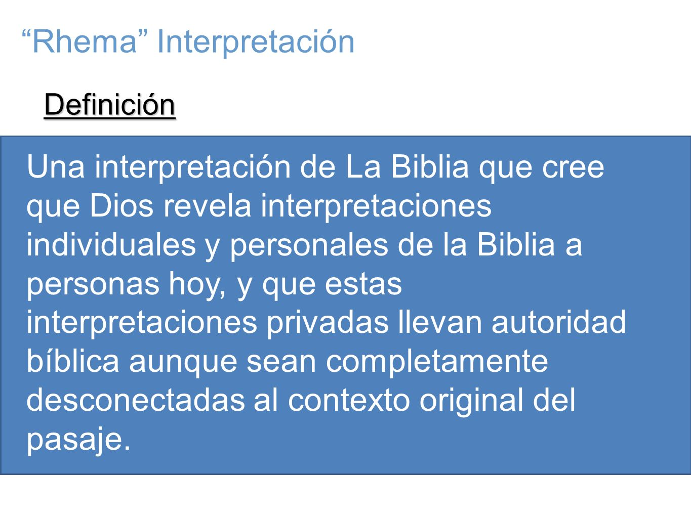 Rhema Interpretación