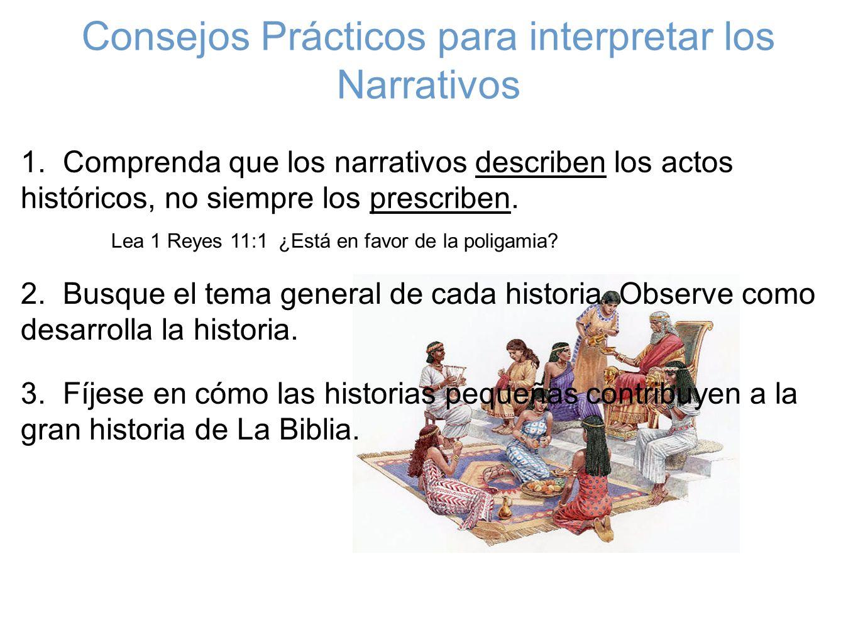 Consejos Prácticos para interpretar los Narrativos