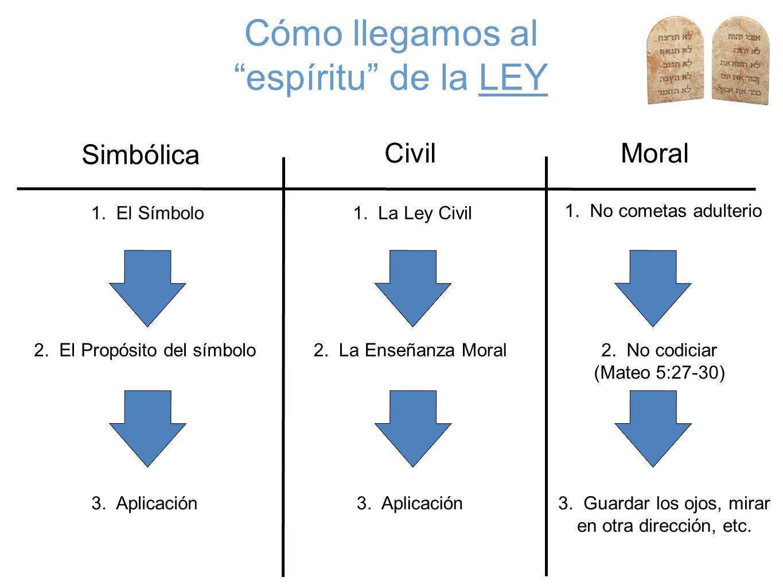 Cómo llegamos al espíritu de la LEY Simbólica Civil Moral