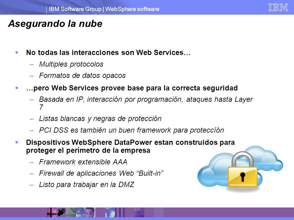 Asegurando la nube No todas las interacciones son Web Services…