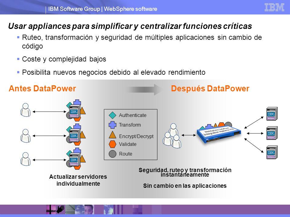 Usar appliances para simplificar y centralizar funciones críticas