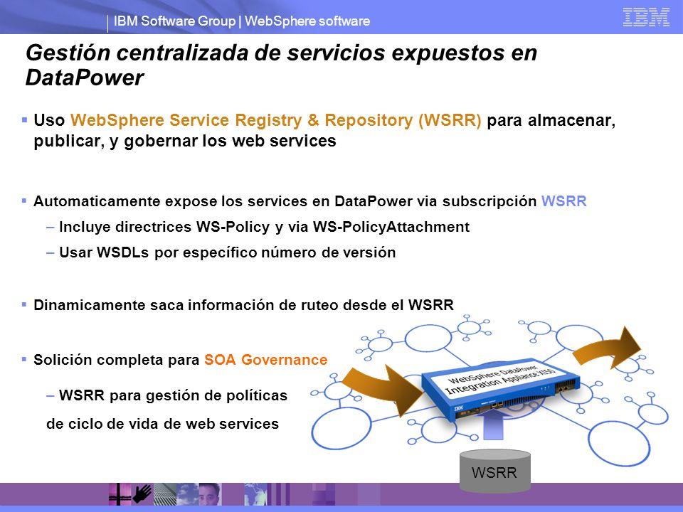 Gestión centralizada de servicios expuestos en DataPower