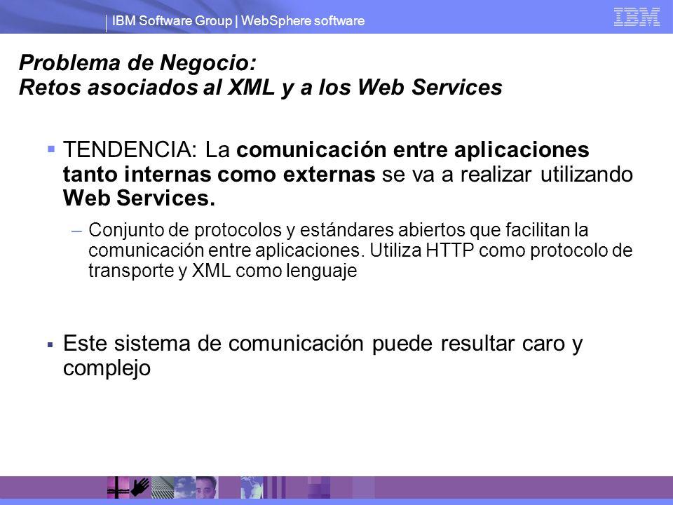 Problema de Negocio: Retos asociados al XML y a los Web Services