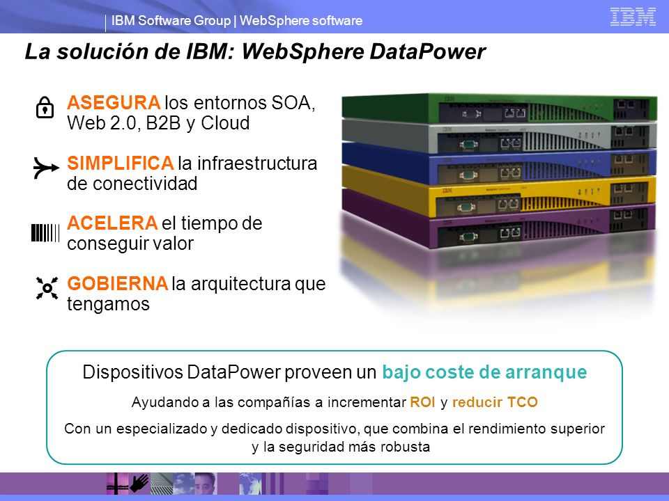 La solución de IBM: WebSphere DataPower