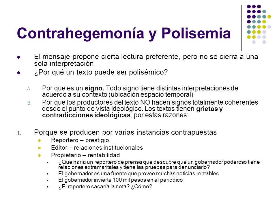 Contrahegemonía y Polisemia