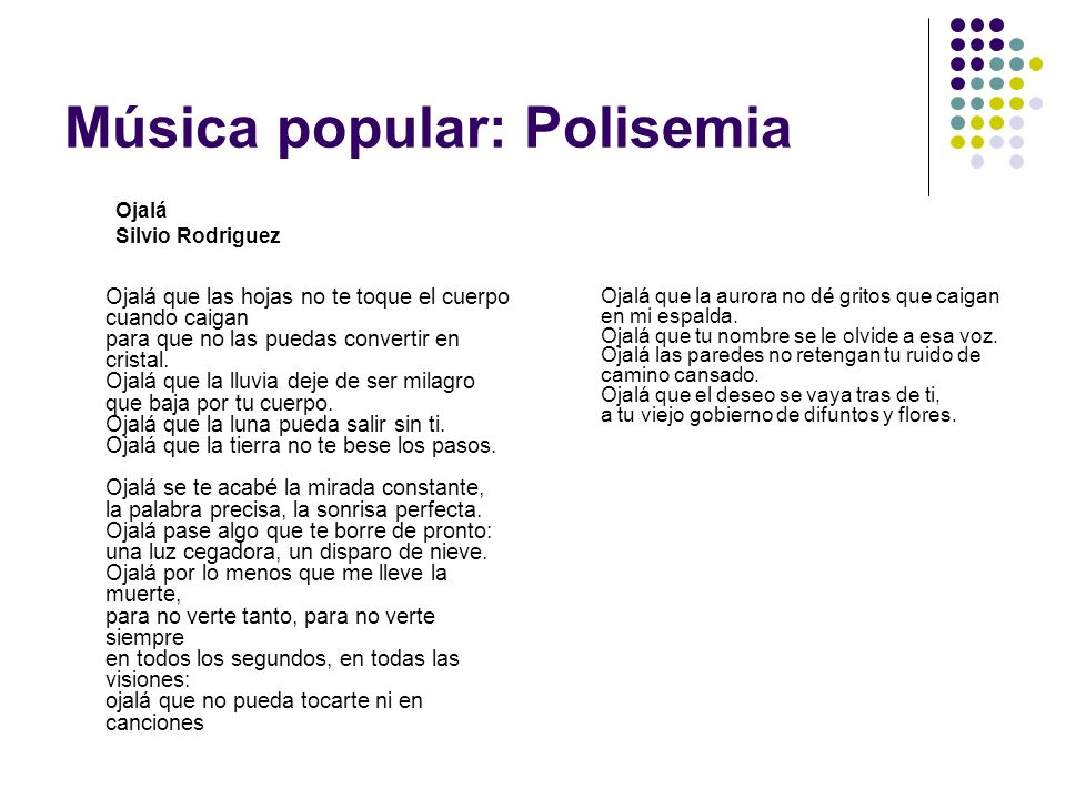 Música popular: Polisemia