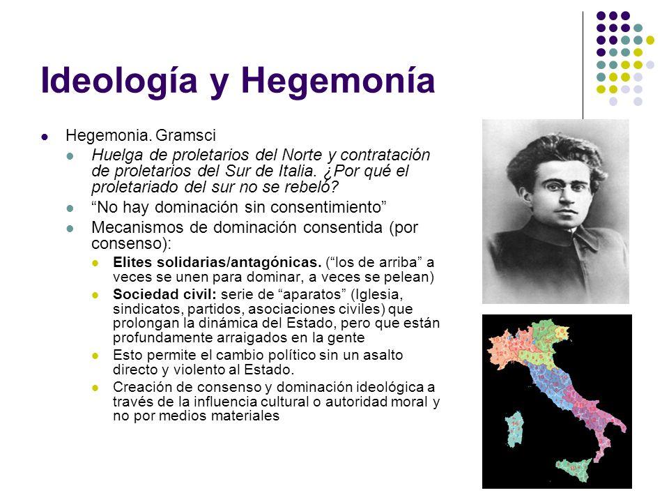 Ideología y Hegemonía Hegemonia. Gramsci.