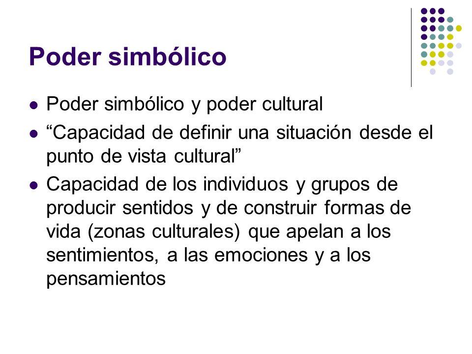 Poder simbólico Poder simbólico y poder cultural