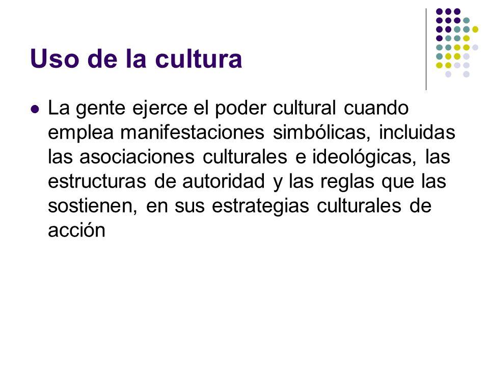 Uso de la cultura