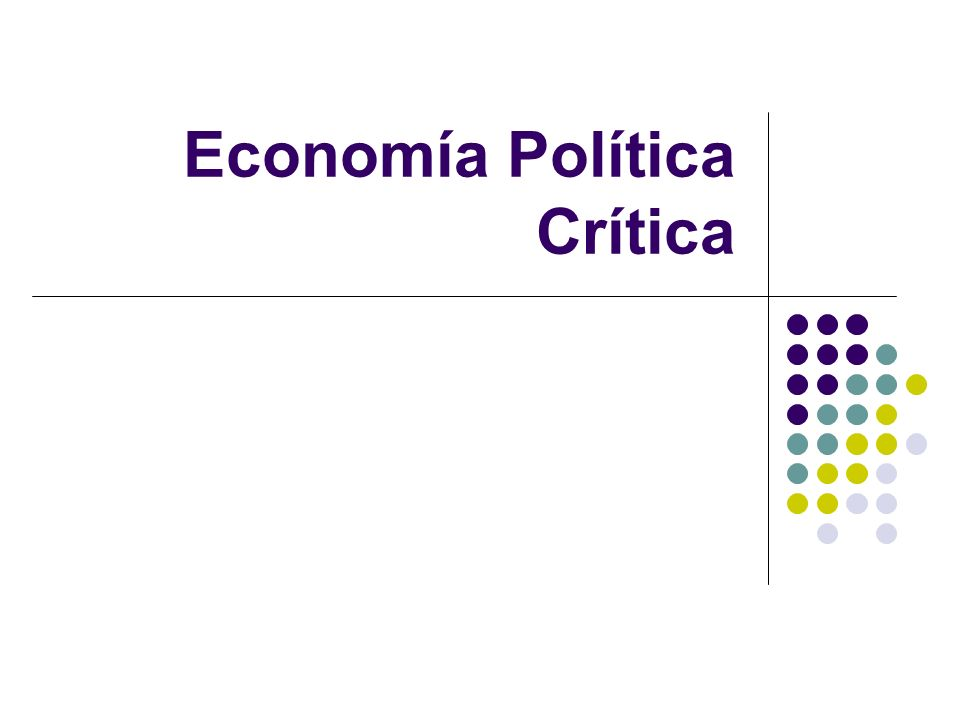 Economía Política Crítica