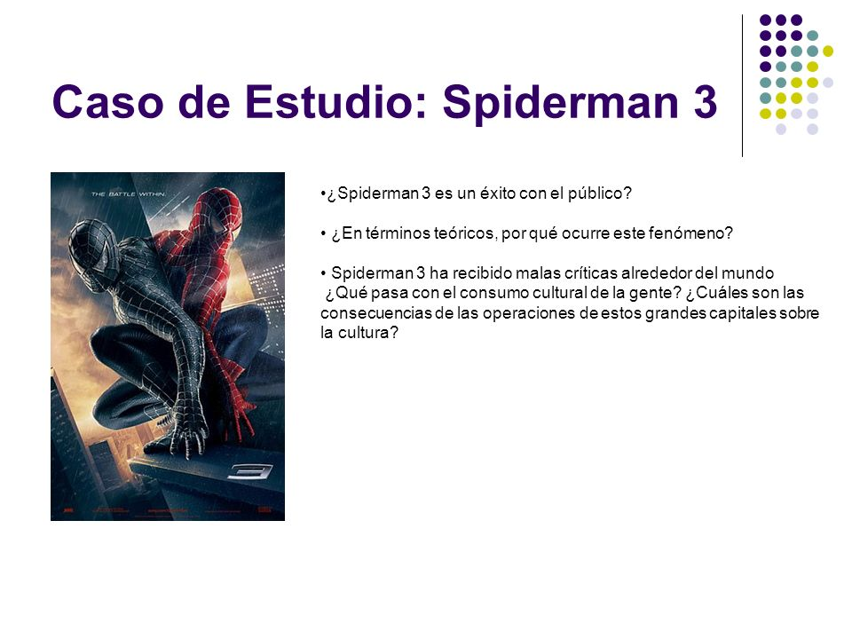 Caso de Estudio: Spiderman 3