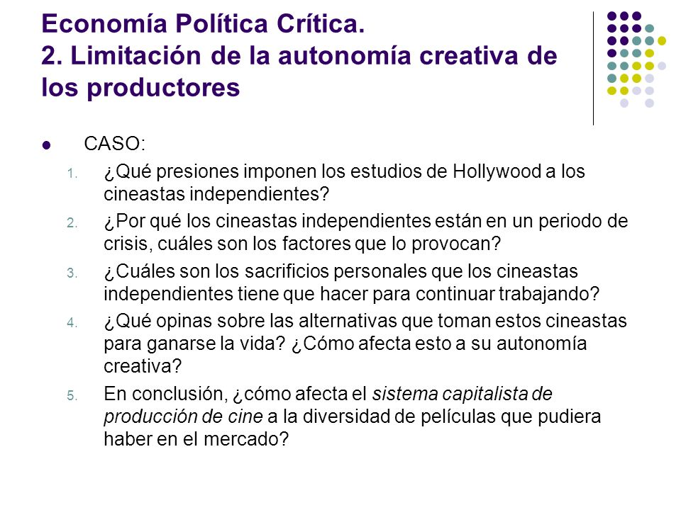 Economía Política Crítica. 2