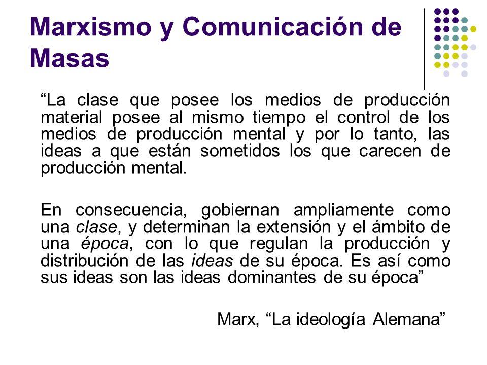 Marxismo y Comunicación de Masas