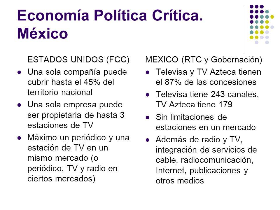 Economía Política Crítica. México