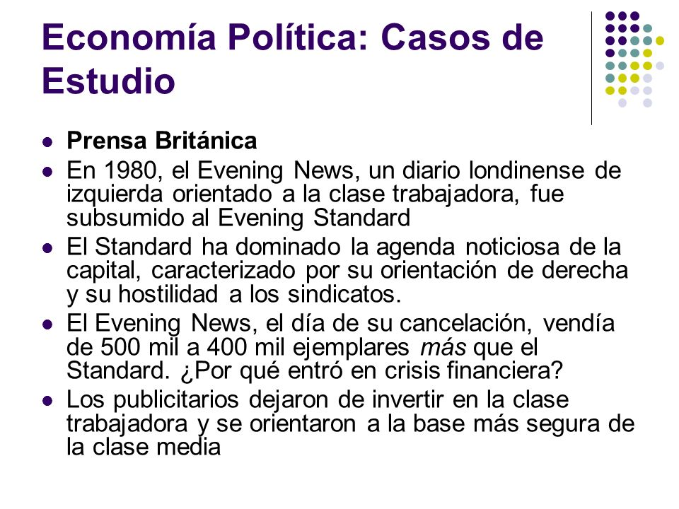 Economía Política: Casos de Estudio