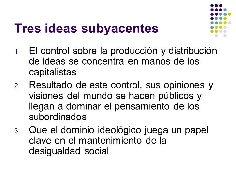 Tres ideas subyacentes