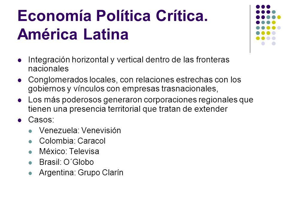 Economía Política Crítica. América Latina