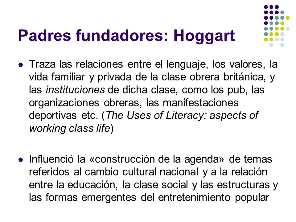 Padres fundadores: Hoggart