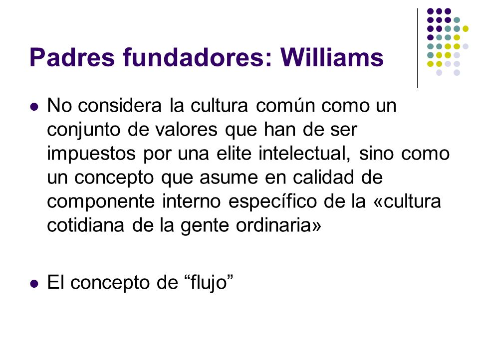 Padres fundadores: Williams