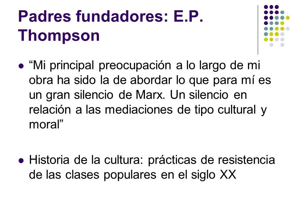 Padres fundadores: E.P. Thompson