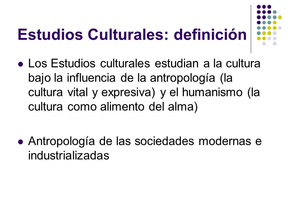Estudios Culturales: definición