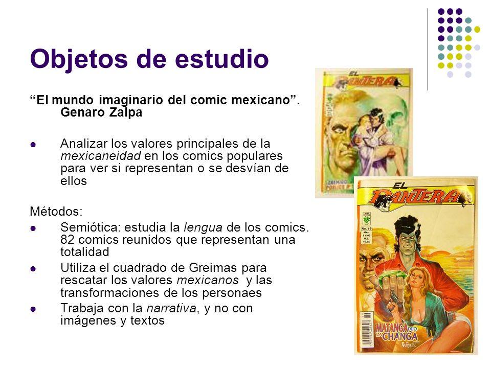 Objetos de estudio El mundo imaginario del comic mexicano . Genaro Zalpa.