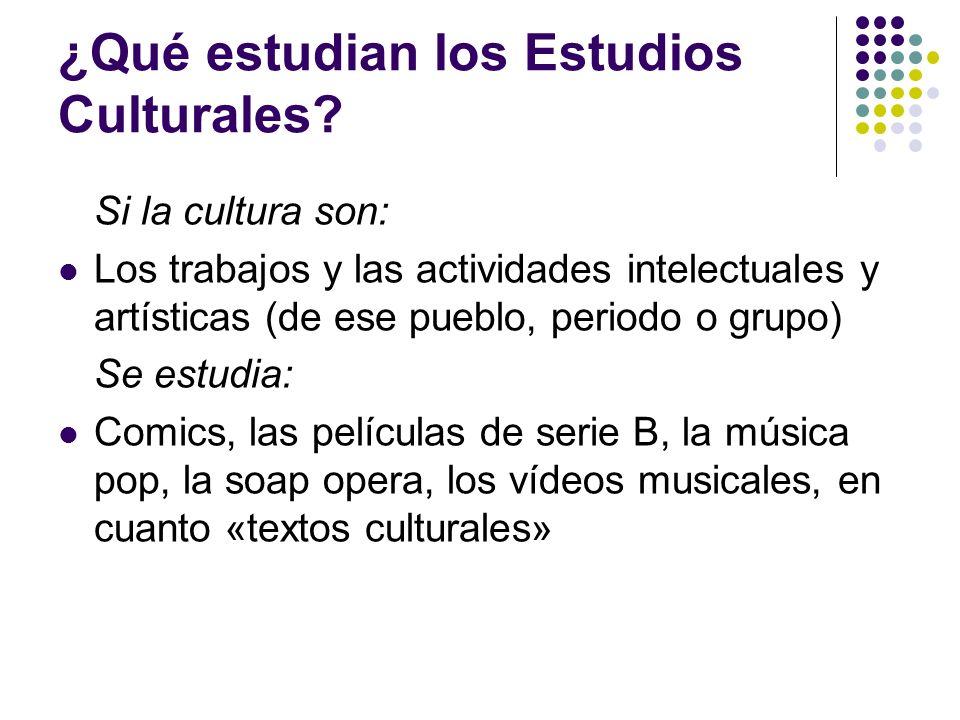 ¿Qué estudian los Estudios Culturales