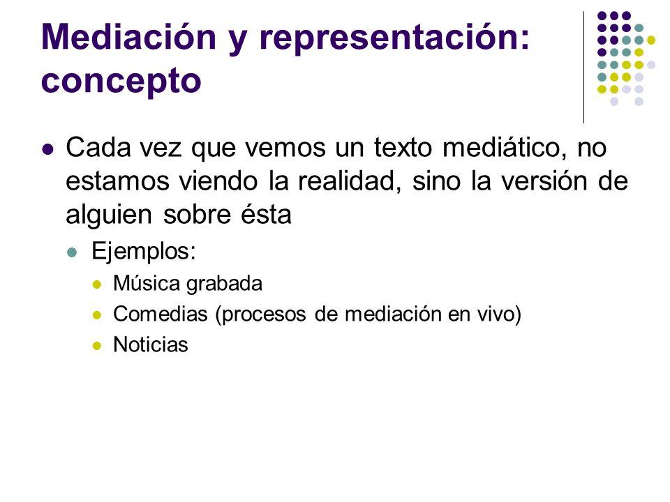Mediación y representación: concepto