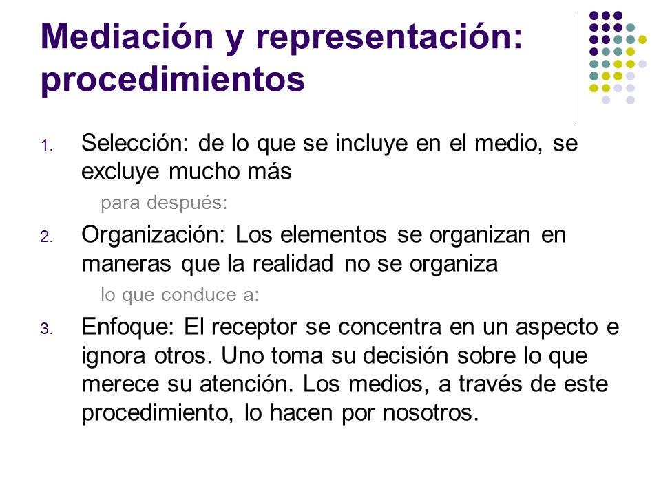 Mediación y representación: procedimientos