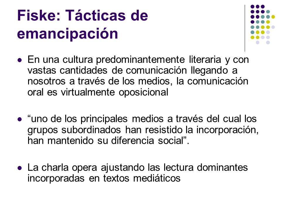 Fiske: Tácticas de emancipación