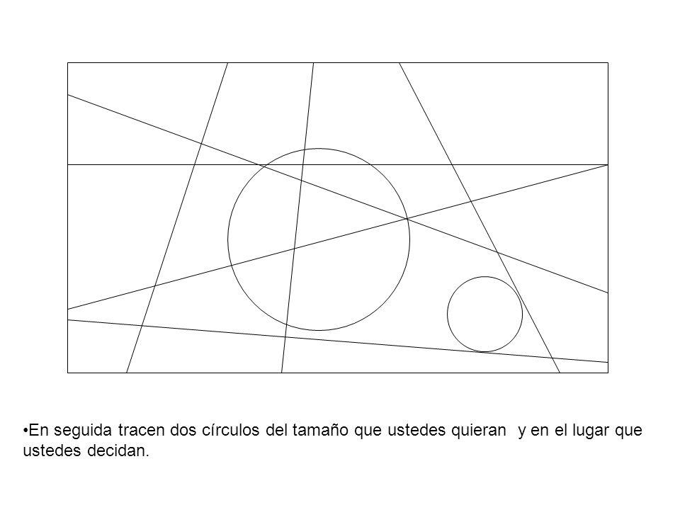 En seguida tracen dos círculos del tamaño que ustedes quieran y en el lugar que ustedes decidan.