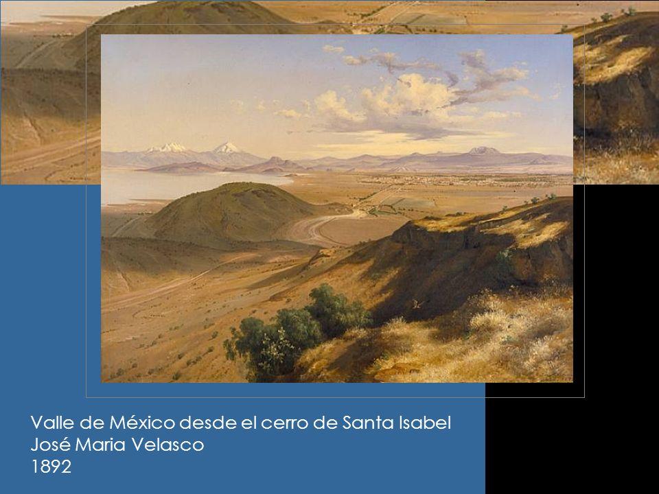 Valle de México desde el cerro de Santa Isabel
