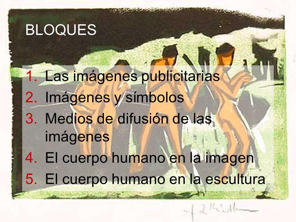 BLOQUES Las imágenes publicitarias. Imágenes y símbolos. Medios de difusión de las imágenes. El cuerpo humano en la imagen.