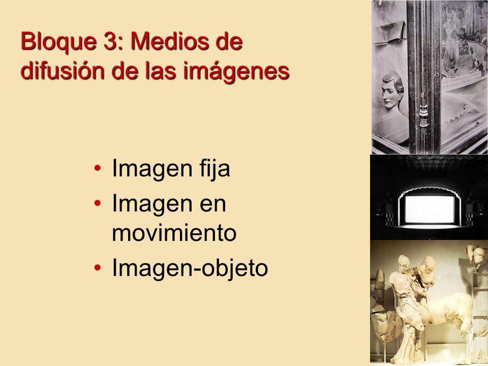 Bloque 3: Medios de difusión de las imágenes