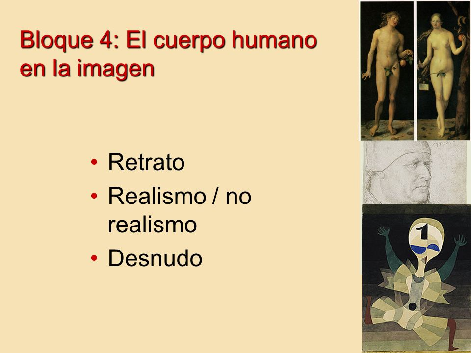 Bloque 4: El cuerpo humano en la imagen