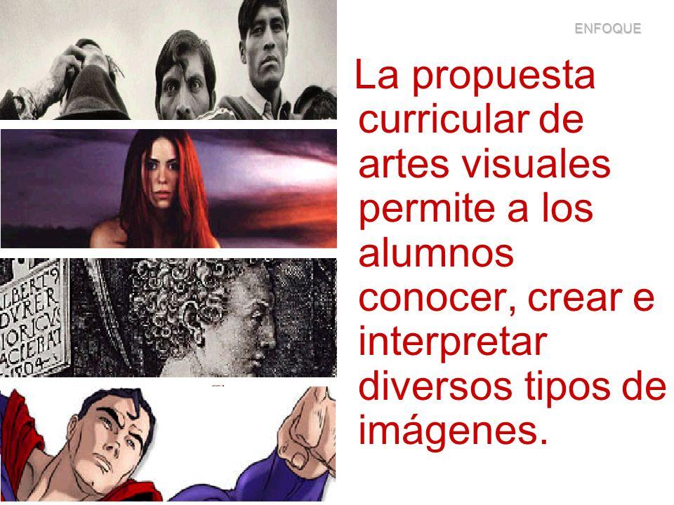 ENFOQUE La propuesta curricular de artes visuales permite a los alumnos conocer, crear e interpretar diversos tipos de imágenes.