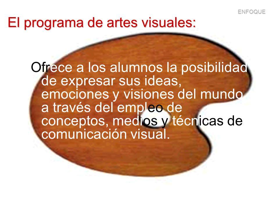 El programa de artes visuales: