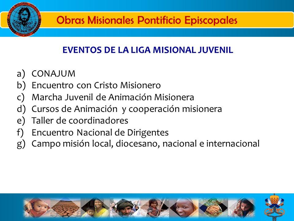 EVENTOS DE LA LIGA MISIONAL JUVENIL