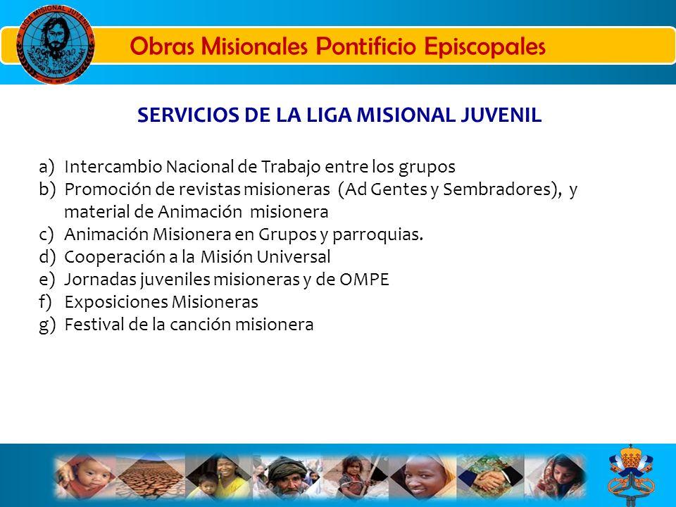 SERVICIOS DE LA LIGA MISIONAL JUVENIL