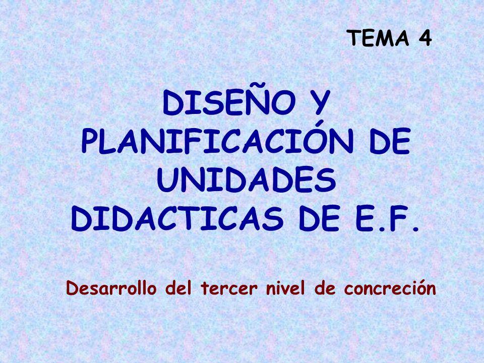 DISEÑO Y PLANIFICACIÓN DE UNIDADES DIDACTICAS DE E.F.