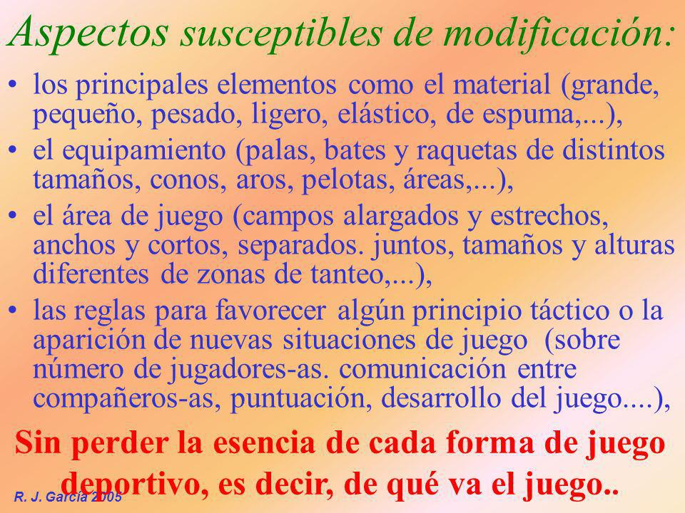 Aspectos susceptibles de modificación: